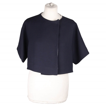 Picture of Vionnet Cropped Silky Navy Blue Vintage Bolero Jacket