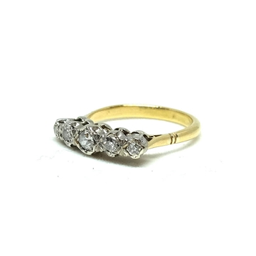 antique-victorian-5-diamond-9ct-gold-engagement-ring-2