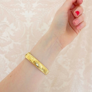 vintage-1980s-rolled-gold-bangle-bracelet