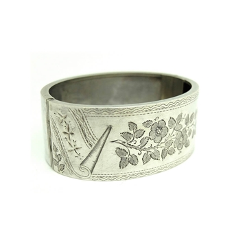 antique-victorian-oval-engraved-silver-bangle-bracelet-2