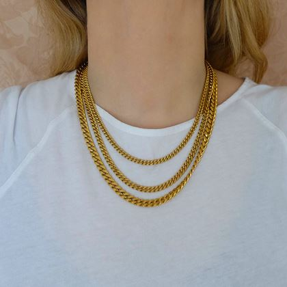 Monet 1980s Multi-Chain Gold Plated Vintage Necklace