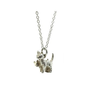 vintage-1970s-cat-kitten-sterling-silver-charm-necklace
