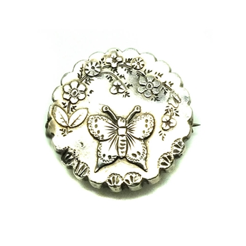 antique-victorian-1891-butterfly-silver-brooch