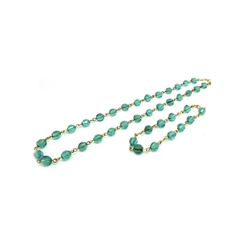 vintage-rolled-gold-teal-glass-necklace-and-bracelet-set