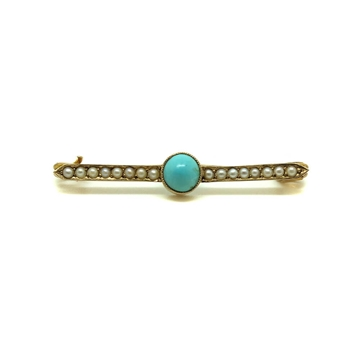 antique-victorian-1837-1901-turquoise-seed-pearl-gold-brooch