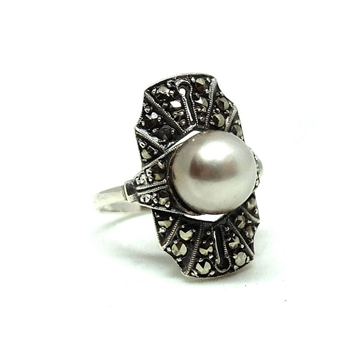 vintage-1920s-art-deco-marcasite-faux-pearl-silver-ring