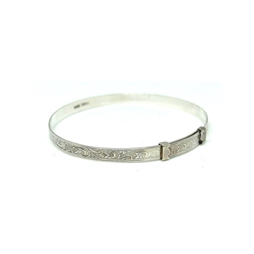 vintage-1937-engraved-silver-tiny-bangle-bracelet