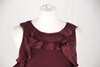 Lanvin Viscose and Wool Sleeveless Ruffle Detail Purple Vintage Top