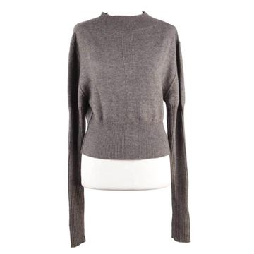 Rick Owens  Mountain AW12 Wool Cropped Long Sleeve Grey Jumper