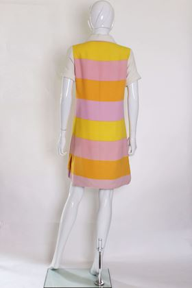 Vintage 1960s Liberty Summer pastel stripe Dress