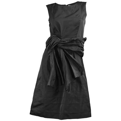 Chloe Silk Taffeta Draped Deconstructed Bow Dress