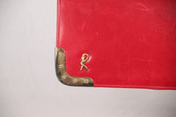 Roberta Di Camerino Leather Satchel Red Vintage Hand Bag
