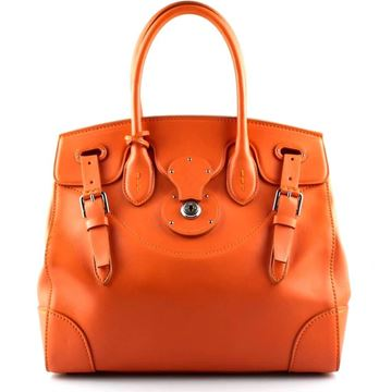 Picture of Ralph Lauren Clementine Ricky Soft Nappa Leather Brown Vintage Handbag