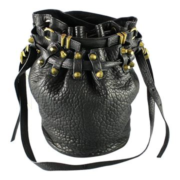 Alexander Wang Studded Diego Bucket Black Vintage Bag