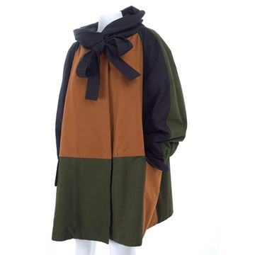 Christian Lacroix 1990s Spring Padded colour block brown vintage jacket