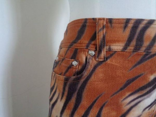 Krizia 1980s Cotton Orange Vintage Midi Skirt