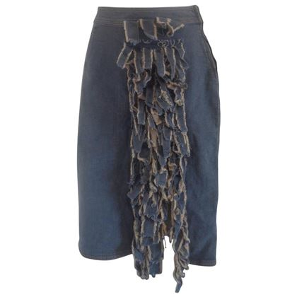 Moschino 1990s Denim Cotton Blue Vintage Skirt