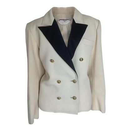 Yves Saint Laurent Rive Gauche 1980s cream vintage tuxedo jacket