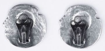 Art Nouveau Silver Clip Vintage Earrings