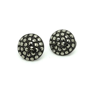 Vintage 1930s Marcasite Silver Clip On Earrings