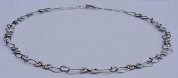 Vintage 1970s Silver Swirl Hand Made Link Chain necklace