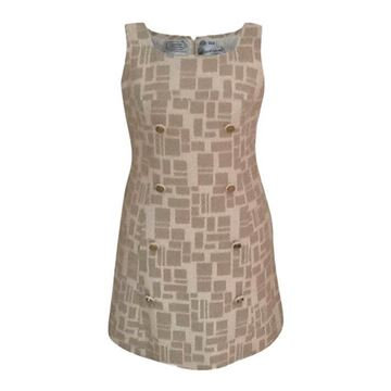 Picture of Christian Dior Diorling 1960s wool cream vintage patterned dress
