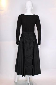 Vintage 1970s Gathered Black Evening Skirt