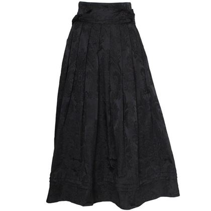 Louis Feraud 1970s Brocade Black Vintage Evening Skirt