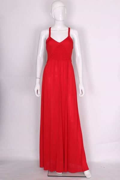 Bruce Oldfield 1970s Plaited Bodice Red Vintage Evening