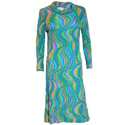 Leonard 1970s Multicolour Silk Jersey vintage Dress