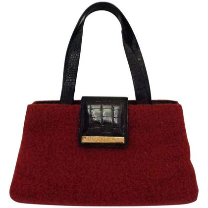 Bulgari Boiled Wool red vintage Shoulder Bag