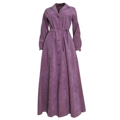 Halston 1970s Ultrasuede Purple Vintage Coat Dress