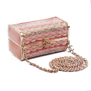 Chanel 2006 Minaudiere Box Rare Collectors Edition pink vintage Shoulder Bag