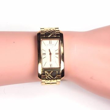 Burberry Gold Plaid Stainless Steel Bracelet vintage watch