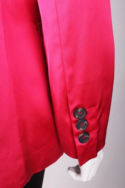 Valentino 1990s Single Breasted Hot Pink Vintage Jacket