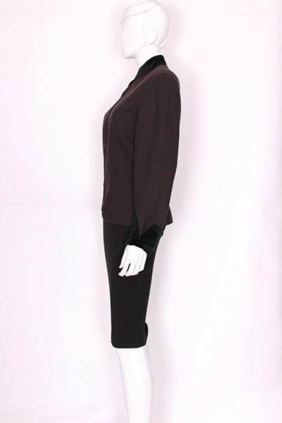 Christian Dior 1980s Wool Crepe Zip Front Brown Vintage Jacket
