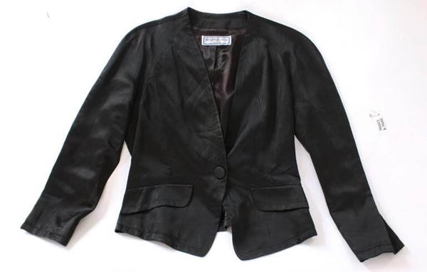 Yves Saint Laurent 1970s Single Button Black Vintage Evening Jacket