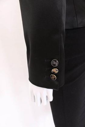 Dolce and Gabbana 1990s Silky Black Vintage Jacket