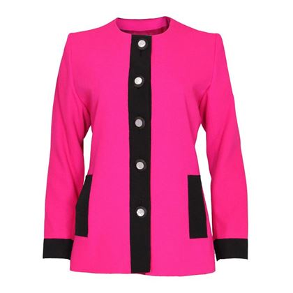Yves Saint Laurent 1980s Colour Block Hot Pink Vintage Jacket
