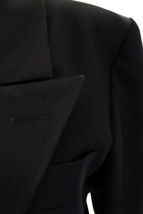 Yves Saint Laurent 1990s Wool Satin Lapel Black Vintage Smoking Jacket