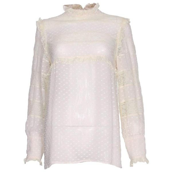 Valentino Lace Silk Blouse