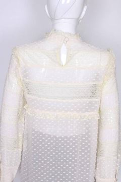 Valentino Lace and Silk White Vintage Blouse