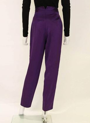 Vivienne Westwood 1990s Satin Deep Purple Vintage Trousers