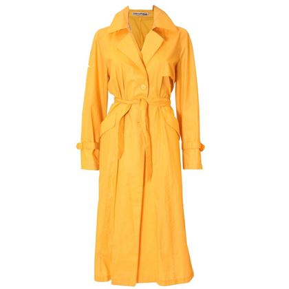 Ted Lapidus 1970s Bright Yellow Vintage Trench Coat