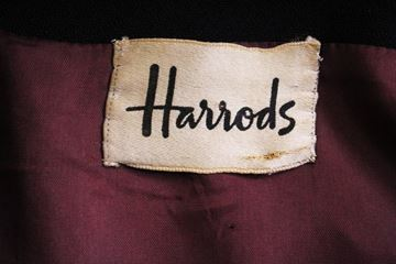 Mansfield for Harrods 1970s Double Breasted Navy Blue Vintage Coat