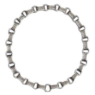 Antique Victorian Silver Link Collar Necklace