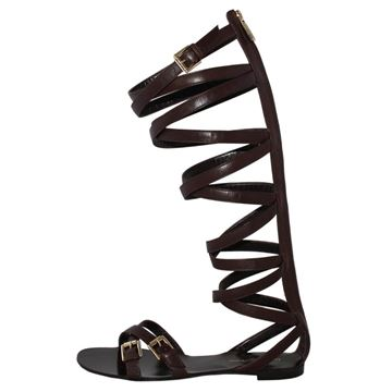 Gianvito Rossi Slave style brown sandals