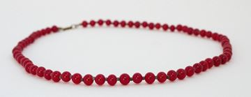 Miriam Haskell 1950s Red Glass Bead Vintage Necklace