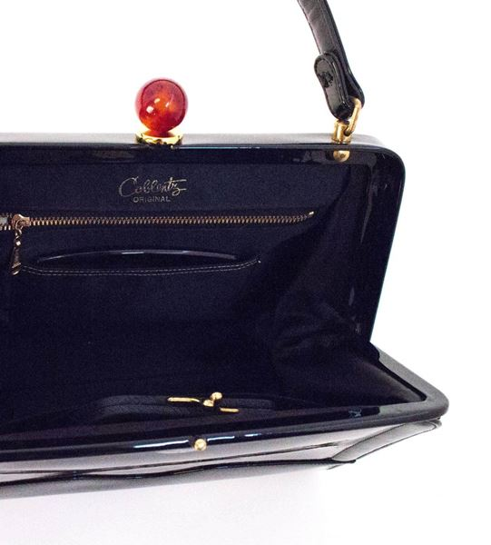 50s Coblentz Black Patent Leather Handbag