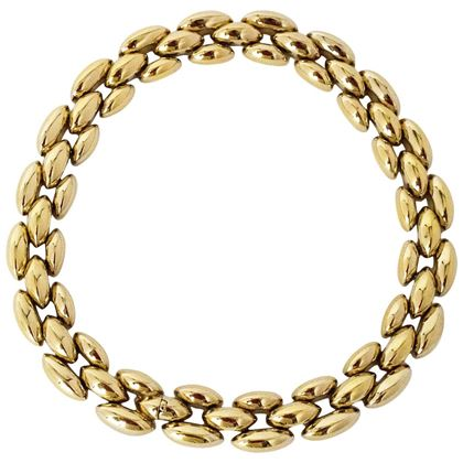80s Ciner Gold Tone Linked Necklace